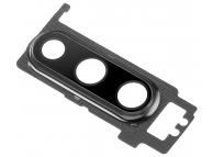 Geam Camera Spate Cu Rama Neagra (Black) Huawei P30