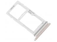 Suport Card / SIM 2 - Suport SIM Argintiu (Ceramic white) Samsung Galaxy S10+ G975 Dual SIM