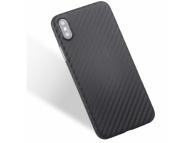 Husa TPU OEM Carbon Fiber pentru Samsung Galaxy A20e, Neagra, Bulk
