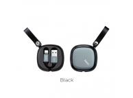 Cablu Date si Incarcare USB la Lightning HOCO U33, Retractabil, 0.9 m, Negru, Blister