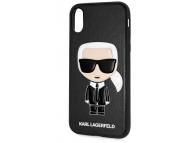 Husa TPU Karl Lagerfeld Ikonik Full Body pentru Apple iPhone X / Apple iPhone XS, Neagra KLHCPXSLFKBK