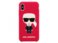 Husa TPU Karl Lagerfeld Ikonik Full Body pentru Apple iPhone XS Max, Rosie, Blister KLHCI65SLFKRE