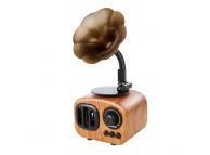 Difuzor portabil Bluetooth B7 Retro Gramophone, Cu Radio / USB/ Slot Card / AUX, Maro Deschis, Blister