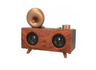 Difuzor portabil Bluetooth B6 Retro Gramophone, Cu Radio / USB/ Slot Card / AUX, Maro Inchis, Blister