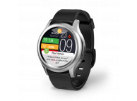Ceas Bluetooth Smartwatch MyKronoz ZeRound3, Argintiu - Negru, Blister KRZEROUND3