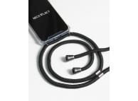 Husa TPU NECKLACY Antisoc cu Snur negru pentru Samsung Galaxy S10 G973, Transparenta, Blister 5001397