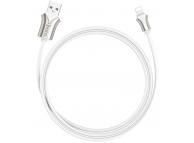 Cablu Date si Incarcare USB la Lightning HOCO U67 Soft silicone, 2.4A, 1.2 m, Alb, Blister