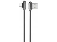 Cablu Date si Incarcare USB la MicroUSB HOCO U60 Soul secret Gaming, 2.4A, 1.2 m, Negru, Blister