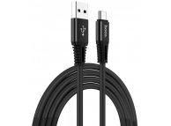 Cablu Date si Incarcare USB la USB Type-C HOCO X22, 5A, 1 m, Negru, Blister