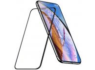 Folie Protectie Ecran HOCO pentru Apple iPhone XR, Sticla securizata, Full Face, Full Glue, Dustproof HD A16, Neagra, Blister