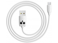 Cablu Date si Incarcare USB la MicroUSB HOCO KX1 Kikibelief Owl, 2.4A, 1 m, Alb, Blister