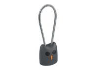 Cablu Date si Incarcare USB la USB Type-C HOCO KX2 Kikibelief, Breloc, 2.4A, 0.24 m, Gri, Blister