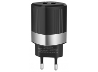 Incarcator Retea USB HOCO C55A Energy, 2 X USB, Negru, Blister