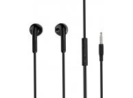 Handsfree Casti EarBuds HOCO M39 Rhyme Sound, Cu microfon, 3.5 mm, Negru, Blister