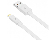 Cablu Date si Incarcare USB la Lightning HOCO X5 Bamboo, 1 m, Alb, Blister