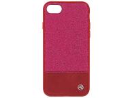 Husa Piele Tellur Glitter II pentru Apple iPhone 7 / Apple iPhone 8, Roz, Blister TLL121174