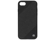 Husa Piele Tellur Glitter III pentru Apple iPhone 7 / Apple iPhone 8, Neagra, Blister TLL121214