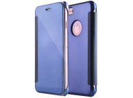 Husa Piele Tellur Mirror pentru Apple iPhone 7 / Apple iPhone 8, Bleumarin, Blister TLL185181