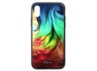 Husa Poliuretan Tellur Glass Print, cu spate din sticla pentru Apple iPhone X / Apple iPhone XS, Mesmeric, Multicolor, Blister TLL121295