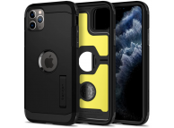Husa Plastic Spigen Tough Armor pentru Apple iPhone 11 Pro, Neagra, Blister 077CS27240