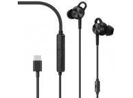 Handsfree Casti EarBuds Huawei CM-Q3, Active Noise, Cu microfon, USB Type-C, Negru, Blister 55030114