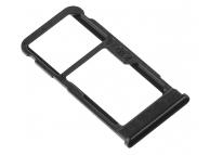 Suport Card / SIM2 - Suport SIM 1 Negru Nokia 5.1 Plus