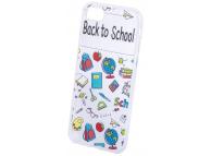 Husa TPU OEM Back to School pentru Apple iPhone 7 / Apple iPhone 8, Multicolor - Transparenta, Bulk