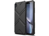 Husa TPU OEM Diamond Shield pentru Apple iPhone XR, Neagra, Bulk