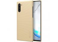 Husa Plastic Nillkin Super Frosted pentru Samsung Galaxy Note 10 N970, Aurie, Blister