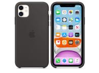 Husa Silicon Apple iPhone 11, Neagra, Blister MWVU2ZM/A