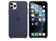 Husa Silicon Apple iPhone 11 Pro Max, Bleumarin, Blister MWYW2ZM/A