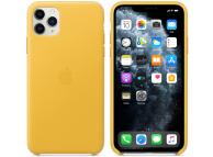 Husa Piele Apple iPhone 11 Pro Max, Galbena, Blister MX0A2ZM/A