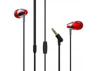 Handsfree Casti In-Ear Borofone Melody Coolmelody BM13, Cu microfon, 3.5 mm, Argintiu - Rosu, Blister