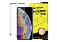Folie Protectie Ecran WZK pentru Apple iPhone X / Apple iPhone XS / Apple iPhone 11 Pro, Sticla securizata, Full Face, Full Glue, Neagra, Blister