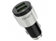 Incarcator Auto cu cablu USB Tip-C Ldnio C403, 4.2A, 2 X USB, Argintiu - Negru, Blister
