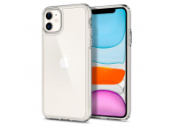 Husa Plastic - TPU Spigen Ultra Hybrid Crystal Clear pentru Apple iPhone 11, Transparenta, Blister 076CS27185