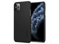 Husa Plastic Spigen Thin Fit pentru Apple iPhone 11 Pro Max, Neagra, Blister 075CS27127