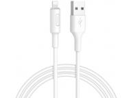 Cablu Date si Incarcare USB la Lightning HOCO Soarer X25, 1 m, Alb, Blister
