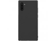 Husa TPU Nillkin Synthetic Fiber pentru Samsung Galaxy Note 10 N970 / Samsung Galaxy Note 10 5G N971, Neagra