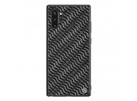 Husa Plastic - TPU Nillkin Twinkle Hard pentru Samsung Galaxy Note 10+ N975 / Note 10+ 5G N976, Silvery, Neagra, Blister