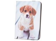 Husa Poliuretan GreenGo Cute Puppy pentru Tableta 7 inci - 8 inci, Multicolor, Bulk