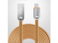 Cablu Date si Incarcare USB la USB Type-C Awei CL-19, 2.4A, 2 m, Auriu, Bulk