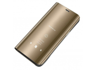 Husa Plastic OEM Clear View pentru Samsung Galaxy Note 10+ N975, Aurie, Blister