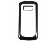 Husa TPU OEM Pancer Antisoc pentru Samsung Galaxy A40 A405, Neagra - Transparenta, Bulk