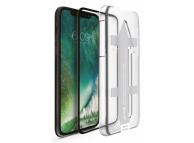 Folie Protectie Ecran Nevox pentru Apple iPhone X / Apple iPhone XS, Sticla securizata, 3D, 0.33mm, CURVED, Cu Rama ajutatoare, Neagra, Blister