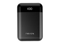 Baterie Externa Powerbank Nevox 1711, QC3.0, Afisaj led, 10000 mA, 1 x USB - 1 x USB Type-C, Neagra, Blister PB-1711