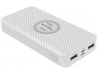 Baterie Externa Powerbank Nevox 1641, 10000 mA, Wireless, 2 x USB - 1 x USB Type-C, Alba, Blister PB-1641