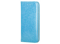 Husa Piele Forcell SHINING Book pentru Apple iPhone 7 / Apple iPhone 8, Bleu, Bulk