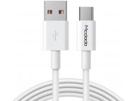 Cablu Date si Incarcare USB la USB Type-C McDodo CA-6380, 5A, 1 m, Alb
