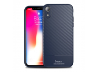 Husa TPU iPaky Carbon Fiber pentru Apple iPhone XR, Bleumarin, Blister